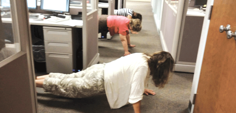 Employees engage in unexpected 'stress wellness breaks
