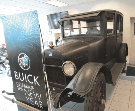 The 1922 Buick at the Cernak dealership
