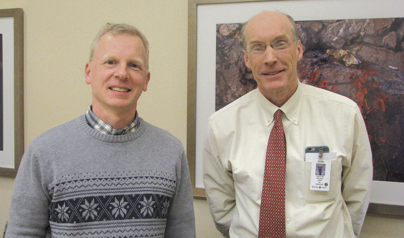 Dr. Matthew Richardson (left) and Dr. John McCann
