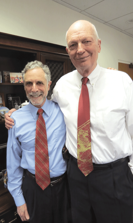 Bill Messner, right, and Ira Rubenzahl.