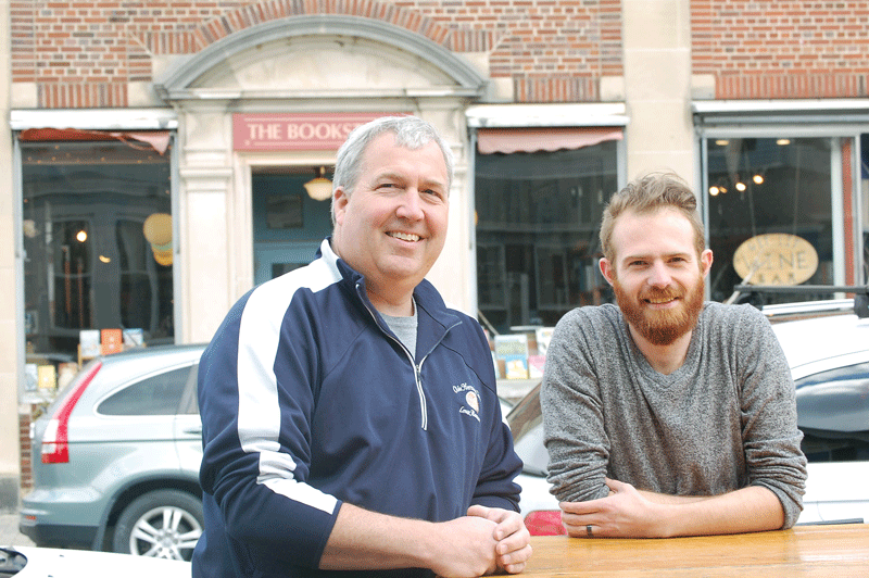 John McNinch (left), owner of the Olde Heritage Tavern, and Kameron Spaulding