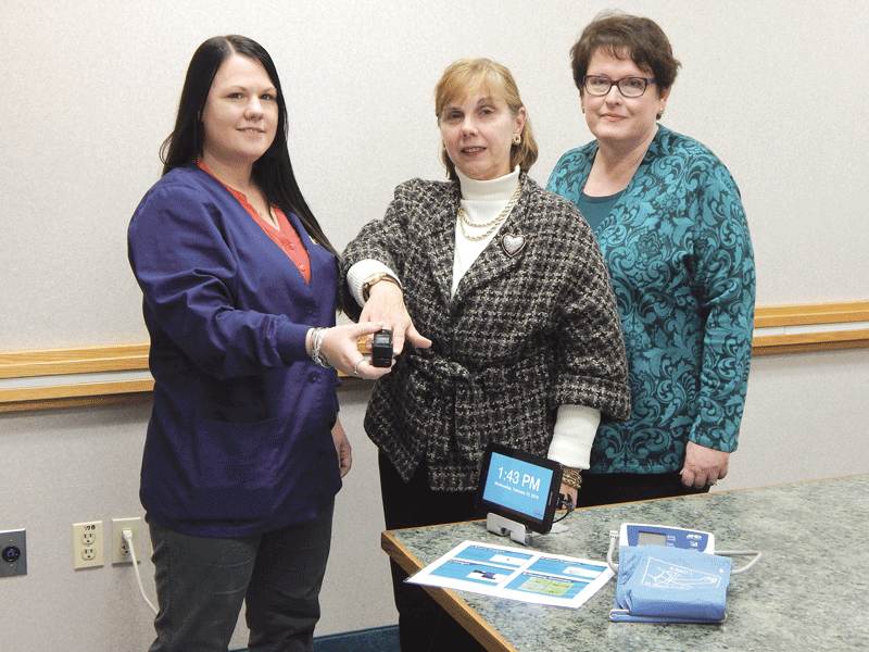 From left, Melissa Pouliot, Sandra Peret, and Kathleen Stezko