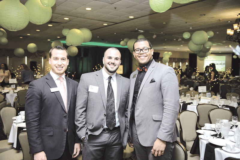 Representing event sponsor Northwestern Mutual, from left: Nico Santaniello, Dan Carmody, and Darren James.