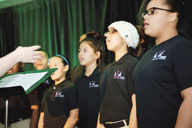 A chorus of young singers