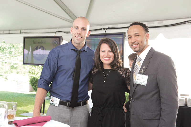 Three members of the 40 Under Forty class of 2016