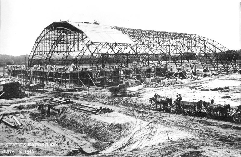 Construction of the coliseum commences in 1916
