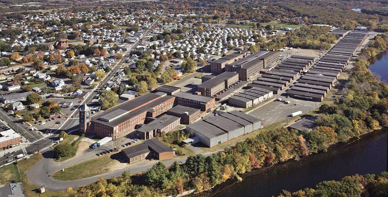 aerial shot of Ludlow Mills