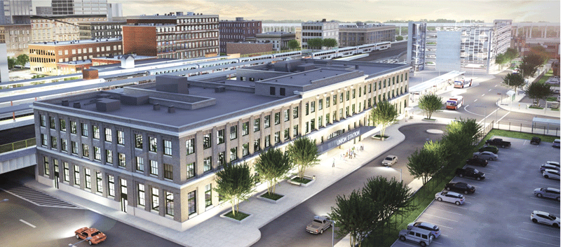 An architect's rendering of the renovated Union Station.