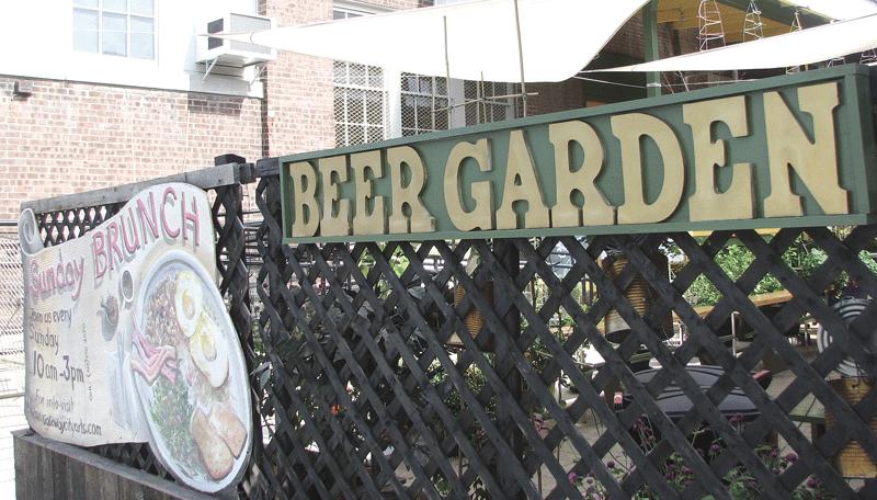 Gateway City Arts' outdoor Beer Garden venue