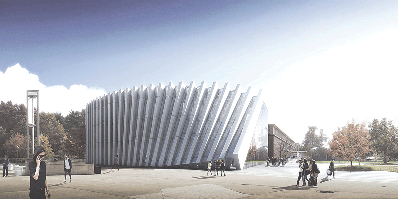 An architect's rendering of the new Business Innovation Hub.