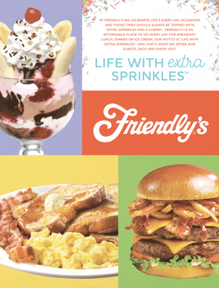John Maguire said one of the needed steps is his efforts to 'fix Friendly's' was to revise and simplify the menu.