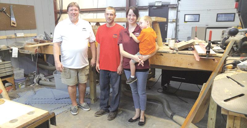 Roy family: Keith, his son Josh, his wife Jamie