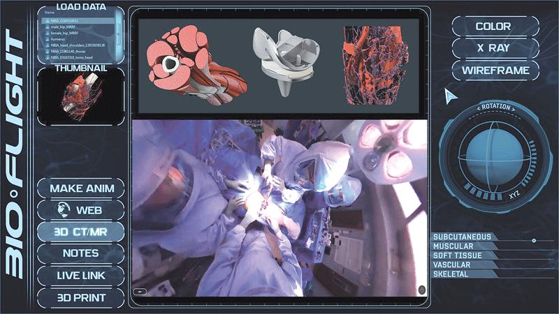BioFlight VR panel