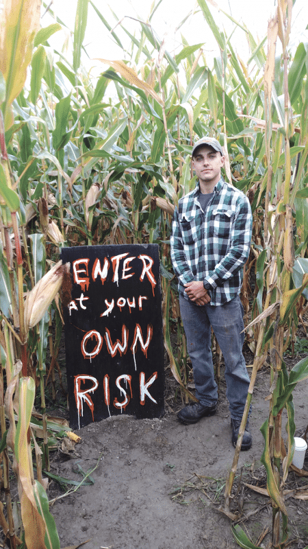 Brennan McKenna says Warner Farm aims to provide scares for all ages each October.