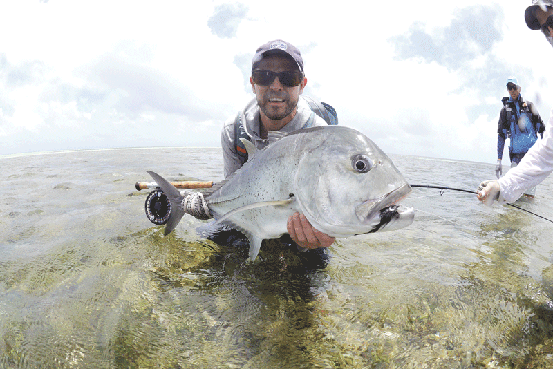 Neville Orsmond, seen here with the giant trevally