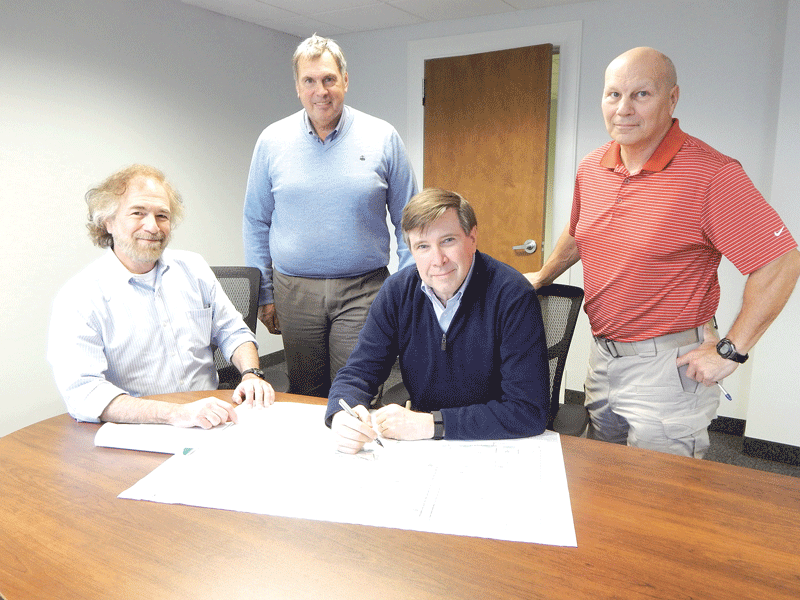 From left, Jim Okun, Mike Talbot, Kevin O'Reilly and Bob Kirchherr