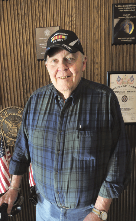 Holyoke Soldiers' Home resident Ted Dickson