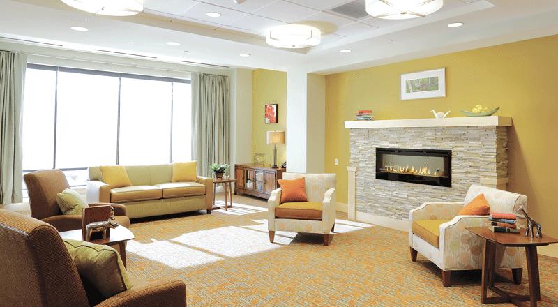 The living room at the Sosin Center for Rehabilitation