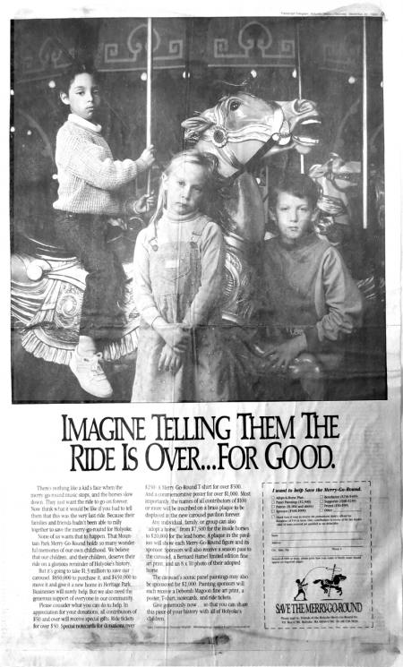Children recruited for ads used in the merry-go-round campaign had plenty of practice looking sad.