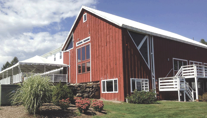 The Red Barn's outdoor deck