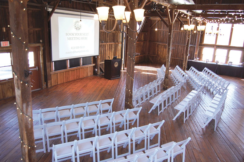 The renovation of the early-19th-century barn, completed in 1974