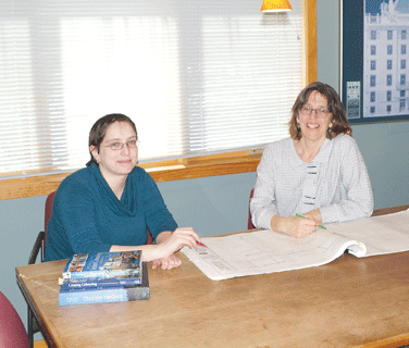 Laura Fitch (right, with intern architect Aviva Galaski)