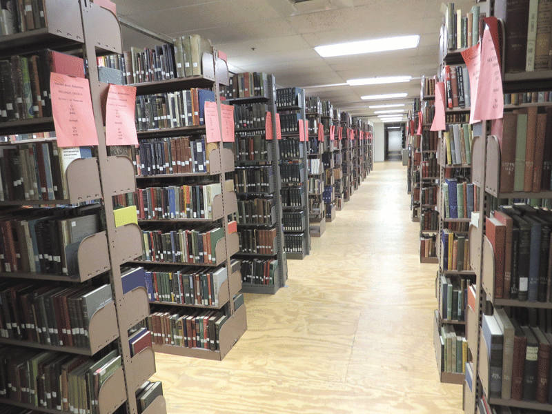 the company moved more than 20 miles of books last summer alone
