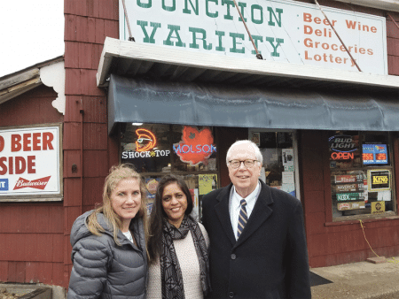Linda Leduc, Meena Patel, and Charlie Blanchard