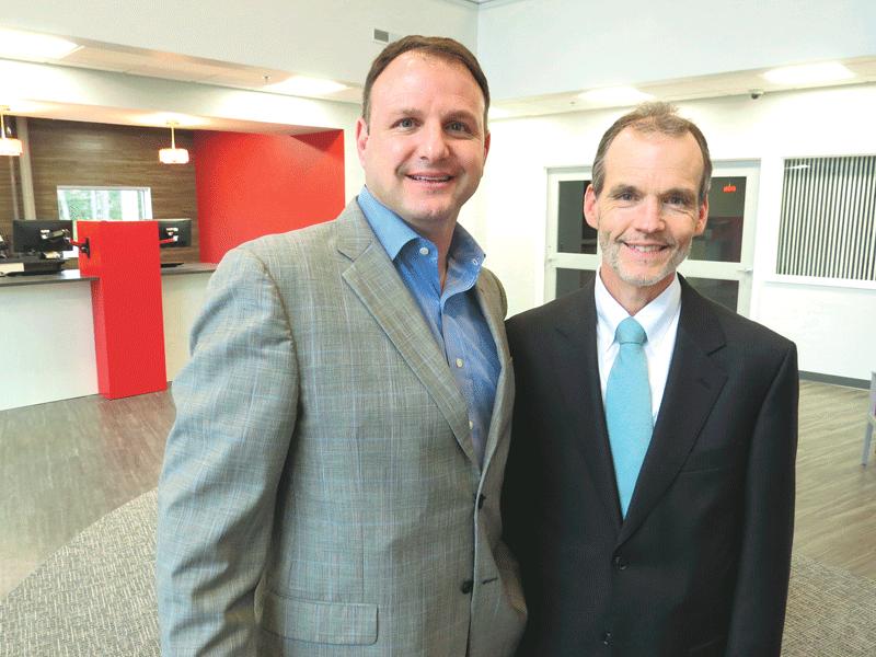 Adam Corcoran, left, and David Hodge