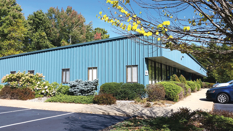 The exterior color chosen for this commercial building in Amherst