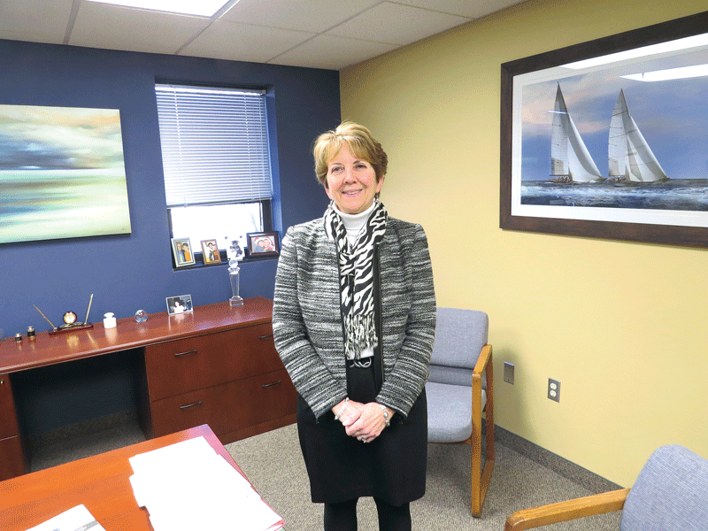 For her new office in Agawam, Jean Deliso