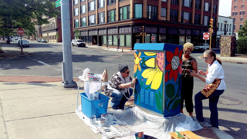 The utility-box painting project