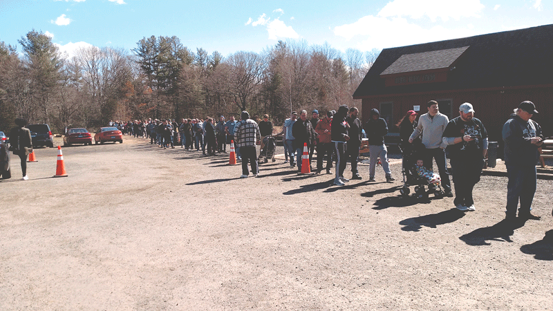 The lines to buy beer at Tree House often stretch to an hour or more.