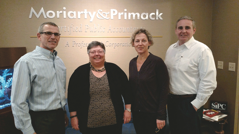 From left, Doug Theobald, Margie Smith, Lisa Behan, and Patrick Leary