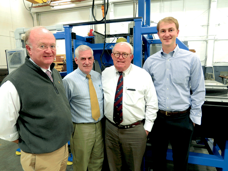 From left, Frank Mitchell, Chris Brucker, Jack Mitchell, and Mark Mitchell