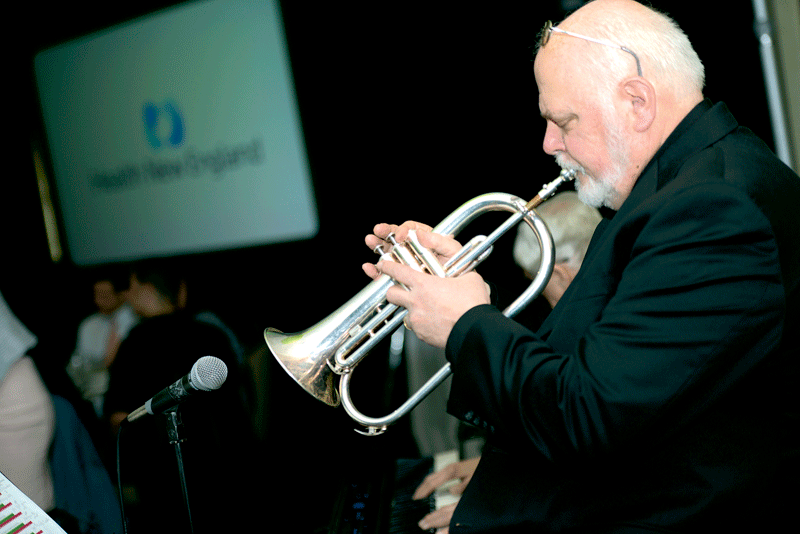 Michael Curran of the Taylor Street Jazz Band.