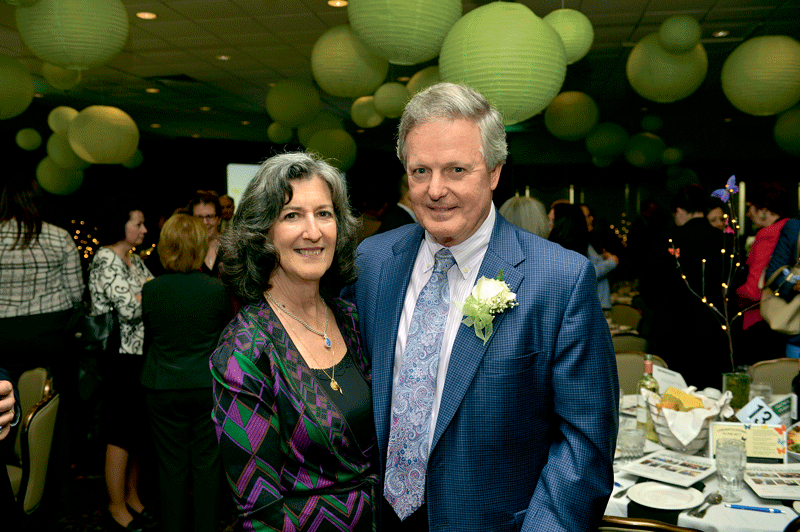2017 Difference Maker Denis Gagnon Sr., president and CEO of Excel Dryer, with his wife, Nancy.