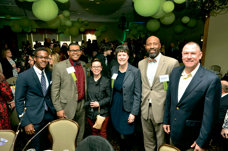 From event sponsor Northwestern Mutual, from left, Adey Thomas, Darren James, Cara Cole, Kate Kane, Donald Mitchell, and Craig Knowlton.