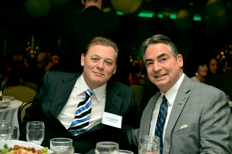 BusinessWest Publisher John Gormally (left) with Springfield Mayor Domenic Sarno.