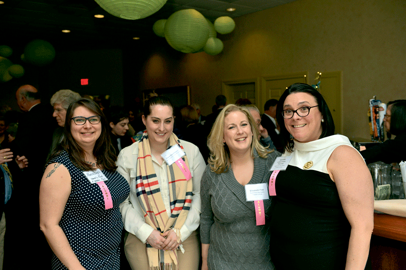 From left, Monica Borgatti and Ellen Moorhouse of the Women's Fund of Western Mass., a 2012 Difference Maker, and Elizabeth Fisk and Danielle LeTourneau-Therrien of Big Brothers Big Sisters of Franklin County, a 2016 Difference Maker.