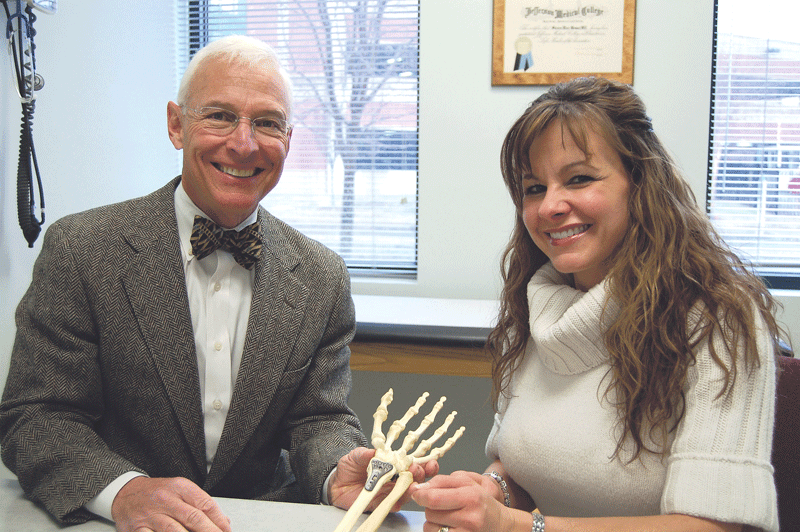 Dr. Steven Wenner, who specializes in hand surgery, and nurse practitioner Jessica Drenga