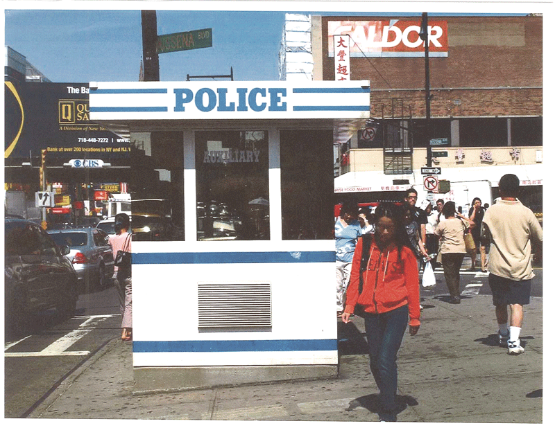 downtown police presence