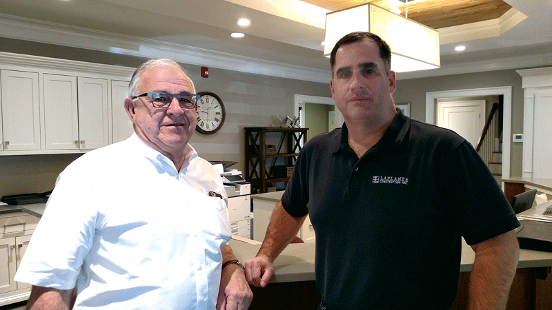 Company founder Ray Laplante (left) and President Bill Laplante