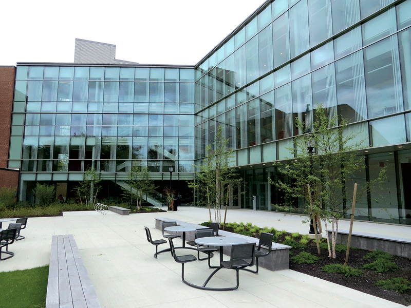 The 54,000-square-foot Dr. Nettie Maria Stevens Science and Innovation Center.