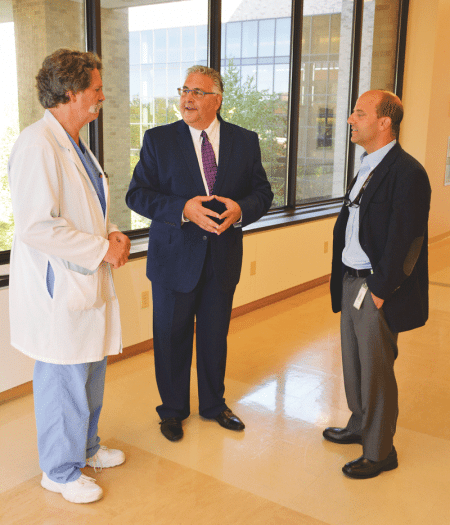Mark Fulco, seen here with team members at Mercy Medical Center