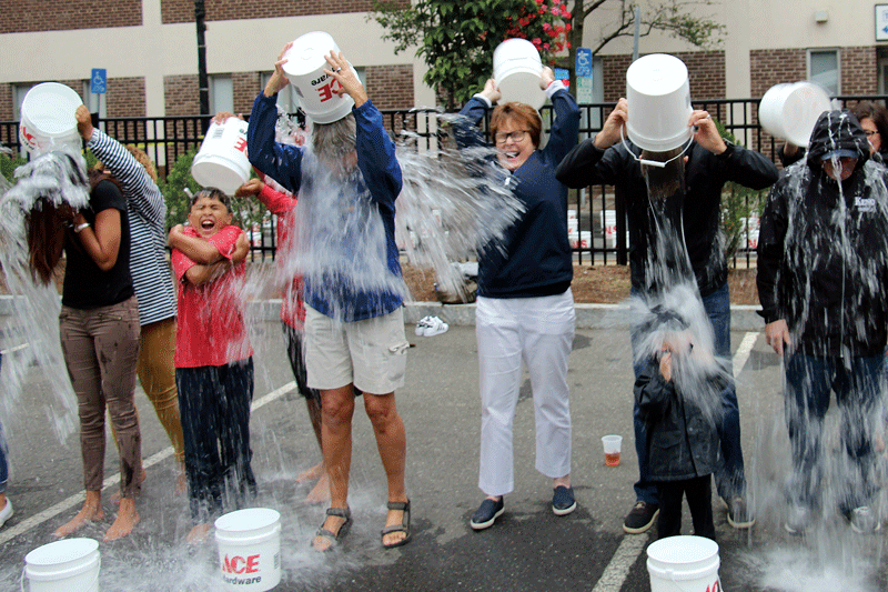 """Chilling Out for a Cause Fort Street in Springfield played host on Aug. 29 to the Springfield Student Prince ALS Ice Bucket Challenge. Event organizers raised $21,000 for the Massachusetts ALS Foundation and specifically to help people in the community who have been stricken with the disease. """"When Governor Baker recently filed legislation making the first week in August each year the Ice Bucket Challenge Week, we took it as a special challenge to us here in Springfield, now, to help before the month of August ended. We did not want to wait until next year to begin this tradition,"""" said event organizer Bill Sampson.Event sponsors included BID Springfield, the Massachusetts Lottery, Peter Pan Bus Lines, Rondeau Ice, Snap Chef, the Springfield Thunderbirds, A.L. Cignoli Co., and the Student Prince and Fort. In addition, Rocky's Ace Hardware donated 300 buckets."""