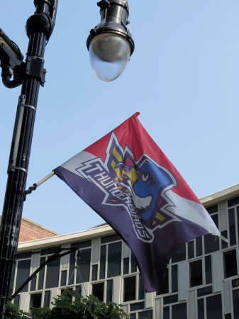 A Thunderbirds banner