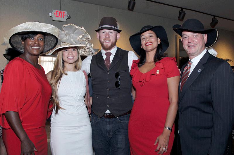 From left, Sam Edwards, Jennifer Sanchez, Justin Roberts, Lidya Rivera, and Angelo Puppolo