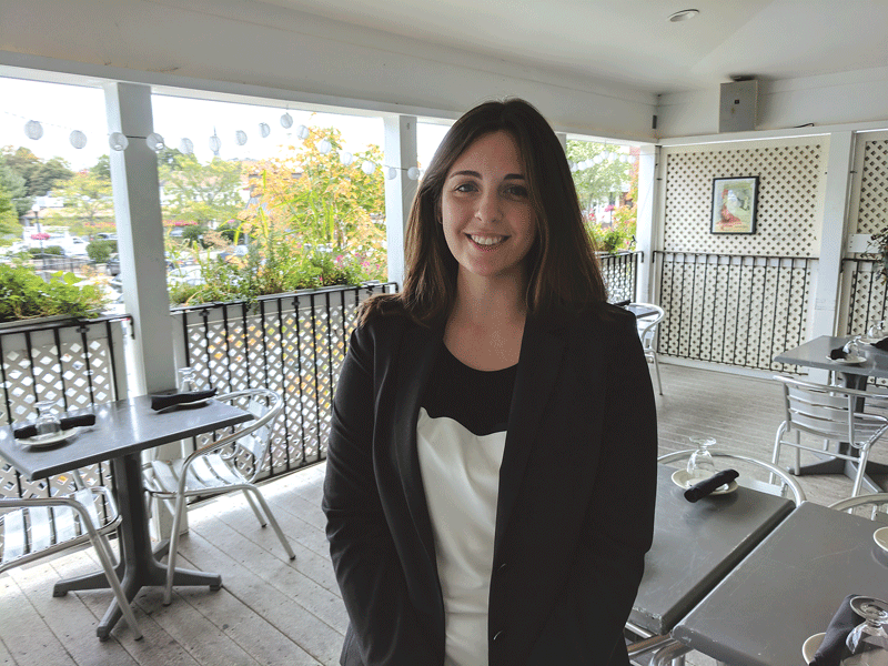 Alyssa Blumenthal says many clients make use of Bistro 63's outdoor deck.