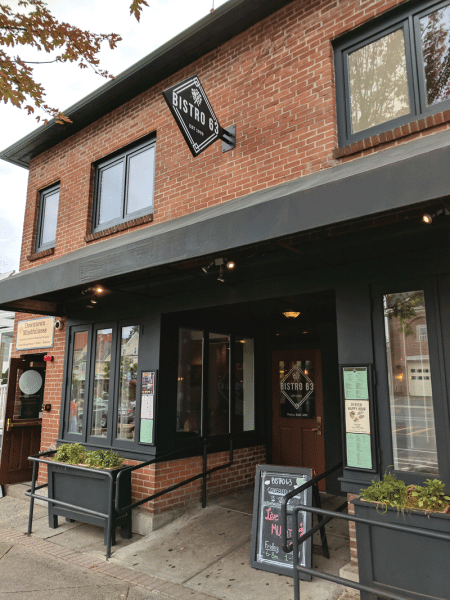 Bistro 63's location at the foot of the UMass campus